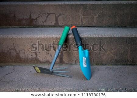 каменщик гаража саду стороны здании работу Сток-фото © photography33