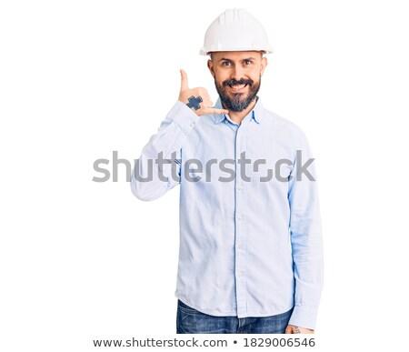 Bald architect making telephone call Stock photo © photography33