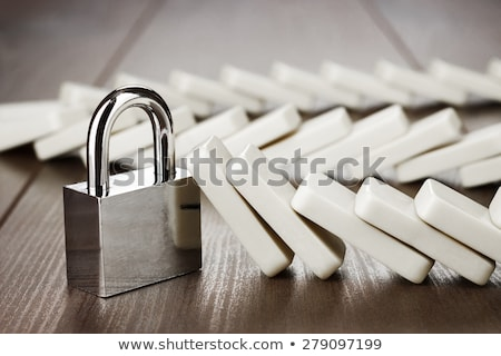 domino · lock · affaires · dommage · contrôle - photo stock © devon