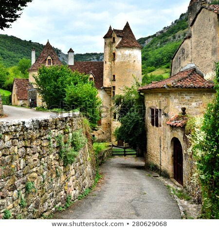 Yol fransız boş ülke doğa Stok fotoğraf © timwege