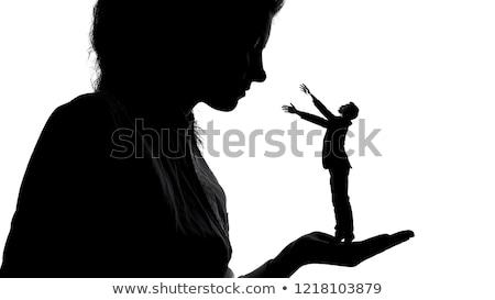 árnyék uralkodó nő szexi lábak izolált Stock fotó © roboriginal