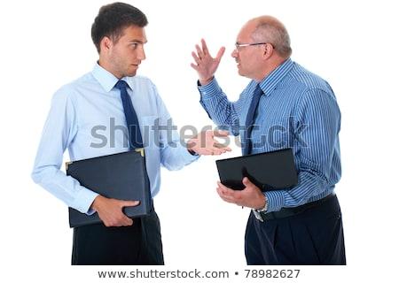 Dois jovem empresários argumento escritório cara Foto stock © photography33