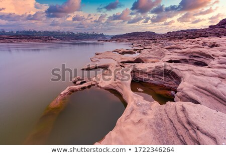 pond in Sampanbok ,in Mekong River Stock photo © sweetcrisis