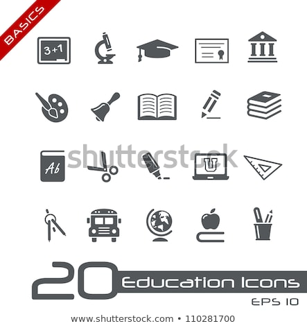 Education icons basics vector stock photo © mistervectors