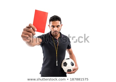 Attractive referee showing red card Stock photo © Aikon