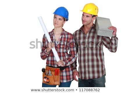 строители · инструментом · пояса · мастер · на · все · руки · пусто · кожа - Сток-фото © photography33