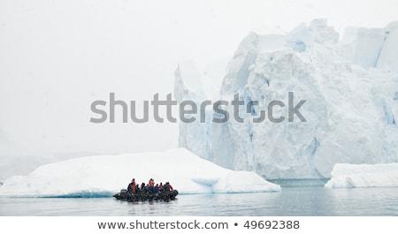 Küçük tekne deniz kar soğuk kutup Stok fotoğraf © timwege