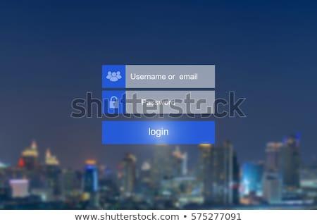 Login schermo tecnologia sfondo sicurezza segno Foto d'archivio © oblachko