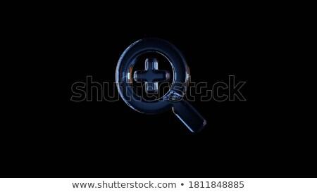 pesquisar · lupa · ícone · escuro · azul · isolado - foto stock © zeffss