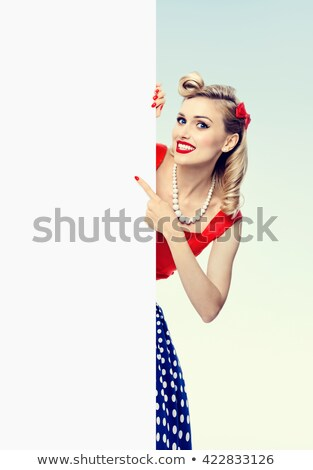 Glamorous retro blonde fashion model Stock photo © stryjek
