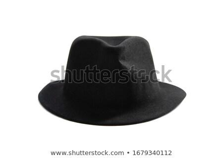 Negro sombrero blanco aislado hombres cabeza Foto stock © shutswis