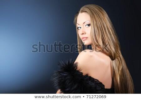 przewiewny · młoda · dziewczyna · biały · ubrania · stwarzające · studio - zdjęcia stock © pawelsierakowski