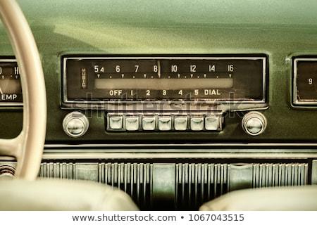 старый автомобиль приборная панель изображение автомобилей дизайна металл Сток-фото © alexeys