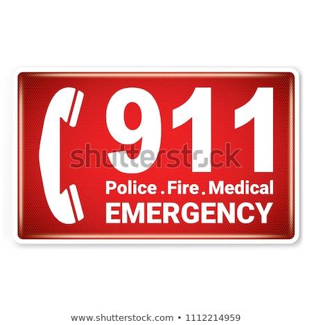 ベクトル 911 緊急 グラフィックス クリーン ストックフォト © squarelogo