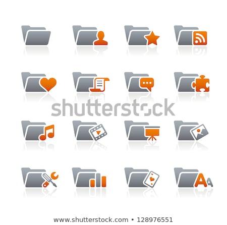 Documentos iconos grafito vector web impresión Foto stock © Palsur