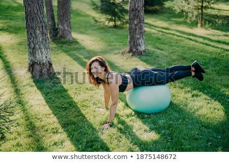 brunette girl makes physical exercise Stock photo © ssuaphoto