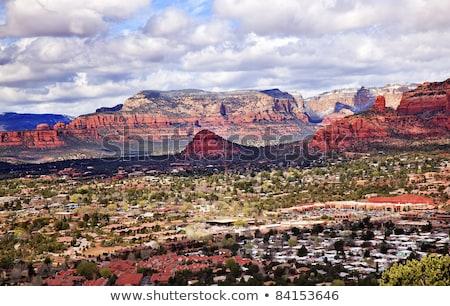 Stock photo: Bear Mountain Orange Red Rock Canyon West Sedona Arizona