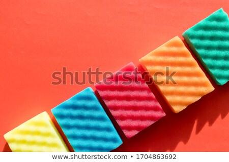 Brightly colored sponges Stock photo © Grazvydas