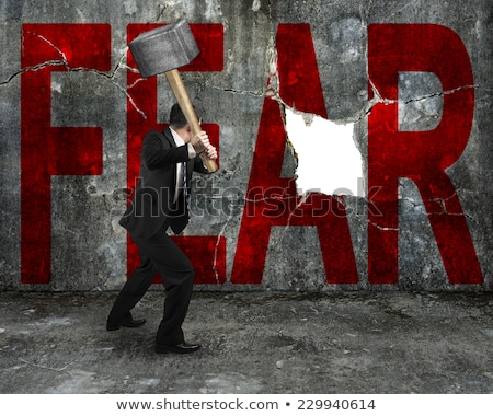 Transform fear into action concept Stock photo © Ansonstock
