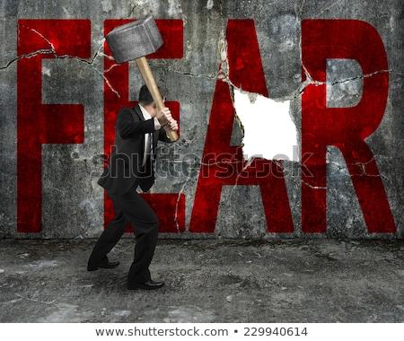 miedo · acción · colorido · palabras · pizarra · fondo - foto stock © Ansonstock
