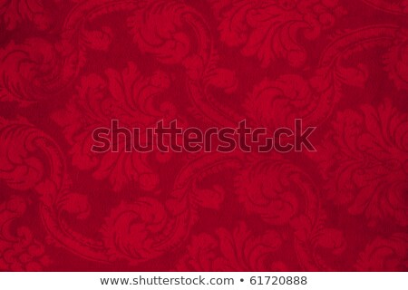 Red Curtains On An Old Grunge Wall Stock photo © Lightsource