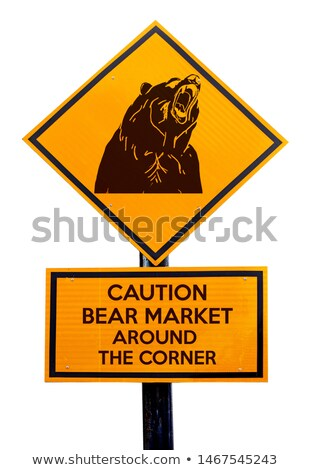 Bear Market Warning sign Stock photo © Lightsource