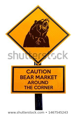 bear market warning sign stock photo © lightsource