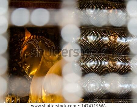 buda · ouro · decoração · templo · cara - foto stock © sophie_mcaulay