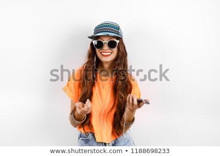Nő visel napszemüveg kéz csípő fehér Stock fotó © wavebreak_media