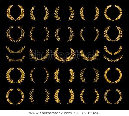 arany · címer · retro · izolált · vágási · körvonal · antik - stock fotó © lightsource