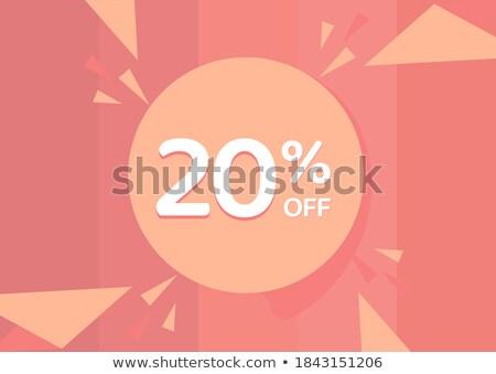 20 percentuali retro etichetta Foto d'archivio © marinini