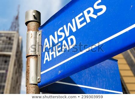 respostas · soluções · caminho · direção · negócio · perguntas - foto stock © lightsource