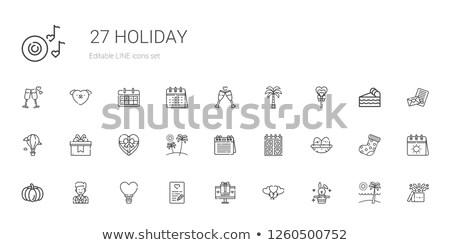 Vector icon pumkin hot air balloon Stock photo © zzve