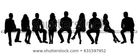 businessman sitting silhouette stock photo © cteconsulting
