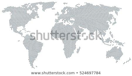 Mappa del mondo punto pattern immagine stile mondo Foto d'archivio © cteconsulting