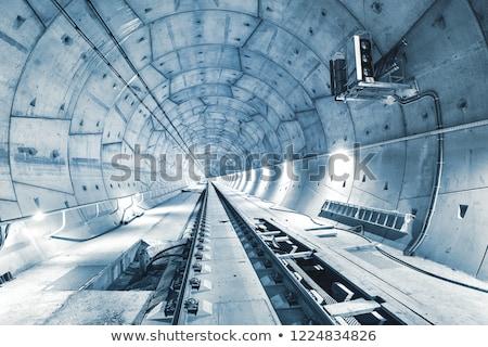 строительство железная дорога мертвых линия черно белые древесины Сток-фото © ABBPhoto