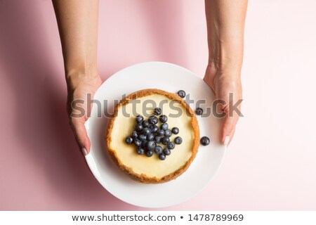 Blueberry cheesecake slice Stock photo © Lekchangply