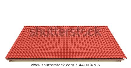 赤 · 屋根 · 屋根 · 絵のように美しい · 町 · 建物 - ストックフォト © jkraft5
