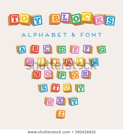 Alphabet · Blöcke · Schreiben · Spielzeug · Spielzeug · Lernen - stock foto © iofoto