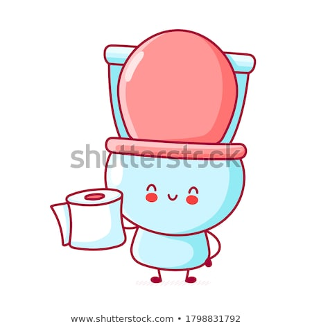 Nice sanitary toilet bowl isolated on white background Stock photo © JohnKasawa