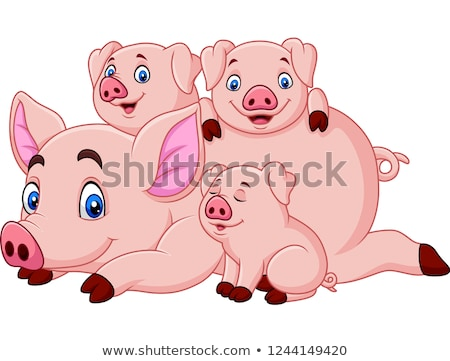 Laying Piglet Stock photo © derocz