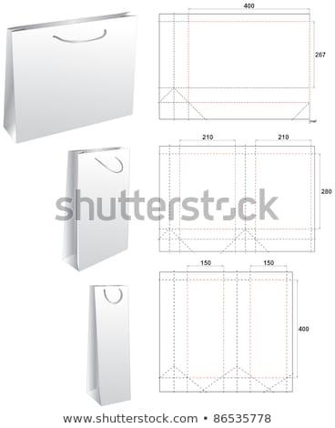 компакт-диск бумаги случае изолированный белый Сток-фото © Givaga