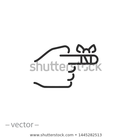 Herida dedo pequeño aislado mano corte Foto stock © Nelosa