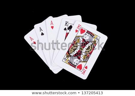 商业照片: 充分 · 房子 · 王牌 · 扑克牌 · 蓝色 · 面对