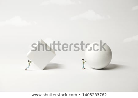 Stock photo: sphere and way
