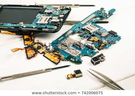 circuit Boards from a cellular phone. Close-up. Stock photo © pxhidalgo
