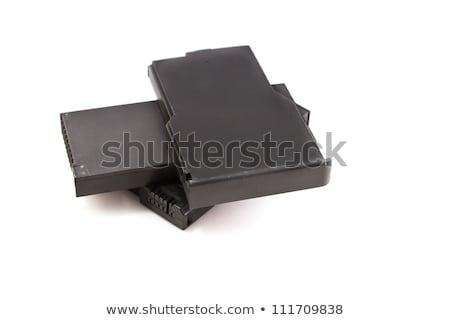 portable · batterie · isolé · blanche · ordinateur · portable - photo stock © pxhidalgo