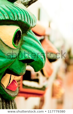 afrikaanse · masker · houten · exemplaar · ruimte · man · hout - stockfoto © pxhidalgo