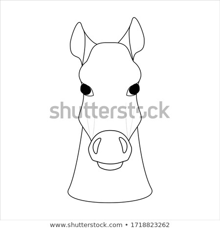 Chinese new year of the Horse chess figure vector. Stock photo © cienpies
