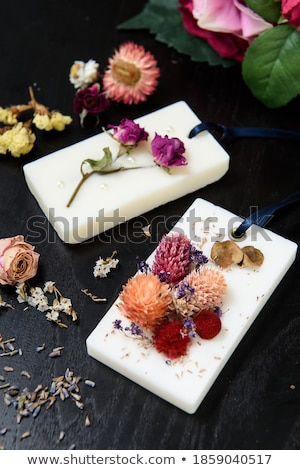 Virág kézzel készített kép absztrakt fehér virág levél Stock fotó © djemphoto